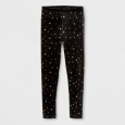 Girls' Star Core Plus Leggings - Cat & Jack Black XS
