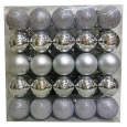 50ct 70mm Silver Christmas Ornament Set - Wondershop&153;