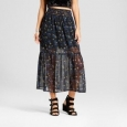 Women's Woven Maxi Skirt - Xhilaration (juniors') Black Xl