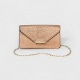 Women's Phone Clutch with Crossbody Strap - A New Day Rose Gold, Size: Small