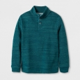 Boys' Pullover Sweater - Cat & Jack Green Heather S