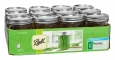 Ball Wide Mouth Pint (16 oz) Mason Jars with Lids and Bands, 12 Jars - ALLTRISTA