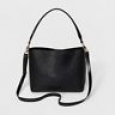 Women's Modern Bucket Satchel Handbag - A Day Black