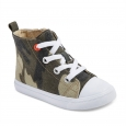 Toddler Boys' Haywood Mid Top Canvas Sneakers 5 - Cat & Jack - Green, Multicolor