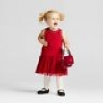 Toddler Girls' Scallop A Line Dress Cat & Jack Red Velvet 12 M
