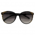 Women's Round Sunglasses - Black/Tortoise