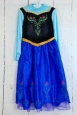Disney Frozen Anna Dress Princess Deluxe Child Costume Dress Size Medium 7-8new