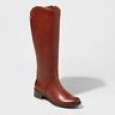 Women's Bridgitte Tall Riding Boots - Merona Cognac 6