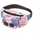 Jam Bag Wireless Speaker Fanny Pack Stars Stripes Tote Music Party Portable