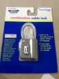 Travel Smart Gray Travel Sentry 3-dial Luggage Cable Lock - Open Package