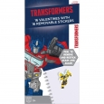 16ct Valentine's Day Transformers Removable Stickers, Multi-Colored