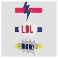 "Girls' 3pk ""LOL""Lightening Bolt and ""wow"" Hair Clip Set - Cat & Jack Multi-Color"