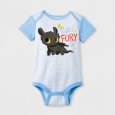 Baby Night Fury Bodysuit Light Blue - DreamWorks 3-6Months