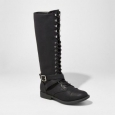 Women's Magda Lace-up Tall Boots - Mossimo Supply Co. Black 6