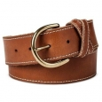 Women's Wide Belt With Stitch Cognac Xs - Mossimo Supply Co.