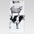 Threshold Farm Animal Flour Sack Kitchen Towel, White