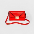 Women's Flap-Close Wallet with Crossbody Strap - A New Day Red
