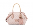GUESS Park Lane Logo Frame Satchel (Light Rose)