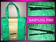 "Babyliss Pro Nano Titanium 1"" Iron Spring Luxe Gree Bag Collection Salon Profess"