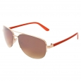 Mossimo Metal Semi Rimless Aviator - Red/Gold