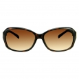 Women's Rectangle Sunglasses with Metal Detail - Tortoise