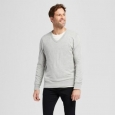 Men's V-neck Sweater - Goodfellow & Co Gray S