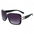 Merona Plastic Rectangle Sunglasses with Open Hinge - Black