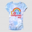Pride Adult Love Wins Tie-Dye Tee Blue M, White