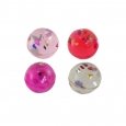 16ct Valentine's Day 27mm Glitter Bounce Balls - Spritz, Multi-Colored