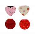 16ct Valentine's Day Heart Notepads - Spritz, Multi-Colored