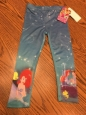 Disney Princess Toddler Girl Little Mermaid Leggings Size 2t -
