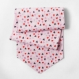 "Valentines Day Pink Red Black Polka Dot Heart 14x72"" Fabric Table Runner"