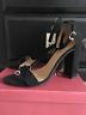 Women's Lulu Block Heel Sandals - Merona Black 10