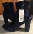 Women's Dania Velvet Bootie - Mossimo Supply Co. Blue 10