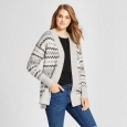 Women's Nordic Patterned Cardigan - Mossimo Supply Co. Gray M