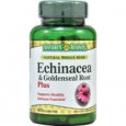 Nature's Bounty Echinacea & Goldenseal Root Plus 100 Capsules