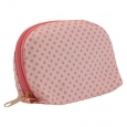 Contents Pink Polka Dot Makeup Bag - Cosmetic Travel Bag -