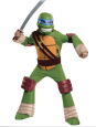 Boy Deluxe Teenage Mutant Ninja Turtle Leonardo Costume Size 4/6 Dress Up Mask