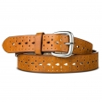 Women's Belt Light Brown Perforated Merona M