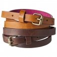 Mossimo Supply Co. Two Pack Skinny Belt - Brown S