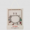 Girls' Holiday Charm Bracelet and Earrings Set - Cat & Jack Red