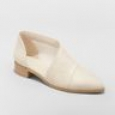 Women's Wenda Cut Out Booties - Universal Thread Ivory 7
