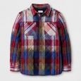 Boys' Plaid Jacket - Cat & Jack Blue/red L
