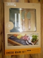 Refinerynib Acacia Wood & Slate Cheese Board Serve Setcopper Knives/chalk