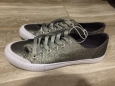 Women's June Glitter Sneakers - Mossimo Supply Co. Silver Size 8