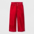 Girls' Velvet Wide Leg Fashion Pants - Cat & Jack Red M