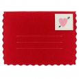 Valentine's Day Large Red Felt Envelope - Spritz