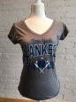 Mlb York Yankees Womens V Neck T Shirt Tshirt Small Retail $19.99