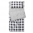 Buffalo Check Convertible Sleeping Bag Black & White - Pillowfort&153;