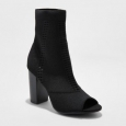 Women's Florentina Knit Sock Booties - A Day Black 7